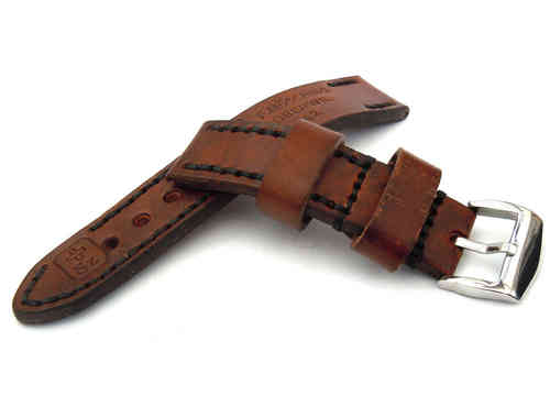 Brooklands Hand Made Vintage style Ammo Leather watch strap