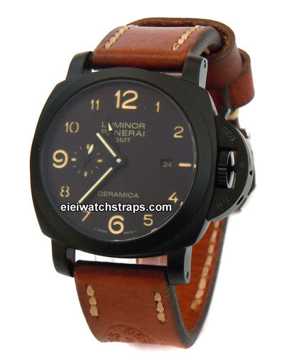 Zoss Handmade Vintage style Ammo leather watchstrap for Panerai Watches