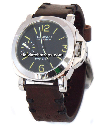 Basel Handmade Vintage style Ammo leather watchstrap for Panerai Watches