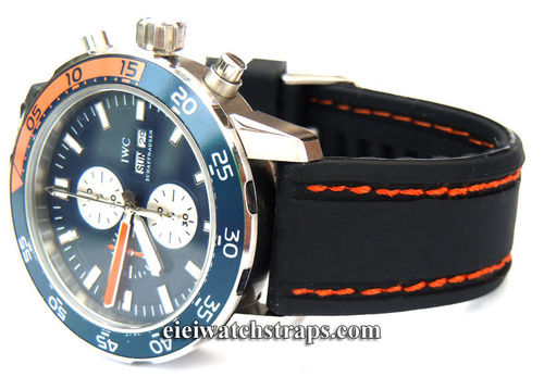 Navy Seal II Silicon Rubber Stitching Watch Strap For IWC Aquatimer