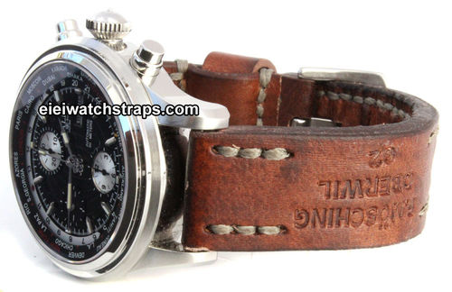 Brooklands Handmade Vintage style Ammo leather watchstrap For Ball Watches