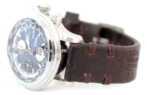Cuyg Handmade Vintage style Ammo leather watchstrap For Ball Watches