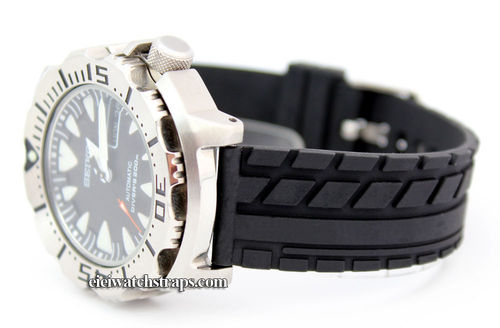 Tyre Tread Rubber Watch Strap Seiko Divers Watch