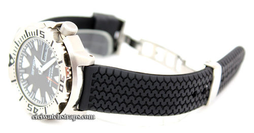 HD Tyre Tread Rubber Watchstrap Seiko Divers Watch Deployment Buckle