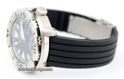 20mm Silicon Rubber Watchstrap Stainless Steel Deployment or Seiko Divers