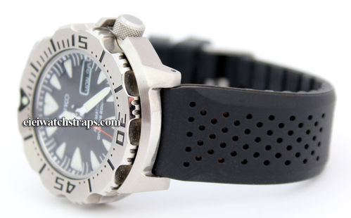 22mm Ilmor Silicon Rubber Divers Watch Strap on Stainless Steel Deployment For Seiko Watches
