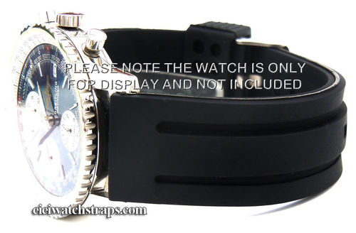 Monaco 22mm Silicon Rubber Watch strap For Breitling Navitimer