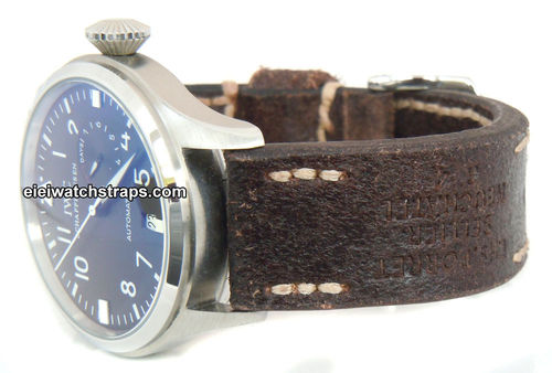Potter Handmade Vintage style Ammo leather watchstrap for IWC Pilot's Watches