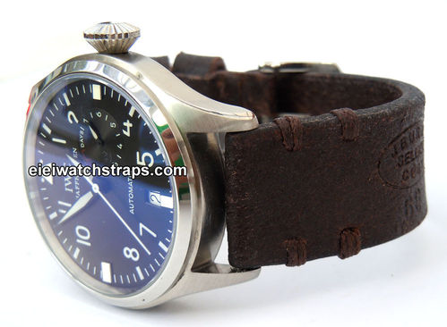Cuyg Handmade Vintage style Ammo leather watchstrap For IWC Pilot's Watch