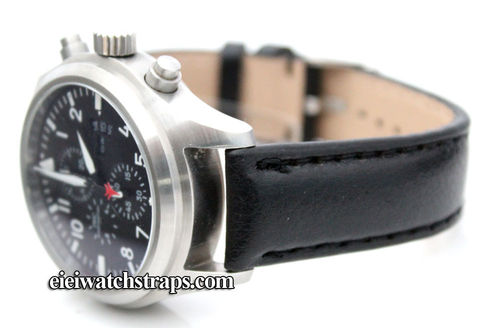 Black Leather Watchstrap For IWC pilot's watches