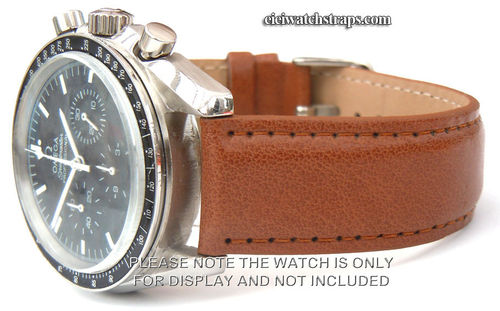 Brown Leather Watchstrap For Omega Speedmaster