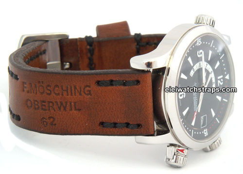 Brooklands Handmade Vintage style Ammo leather watchstrap For Jaeger-LeCoultre