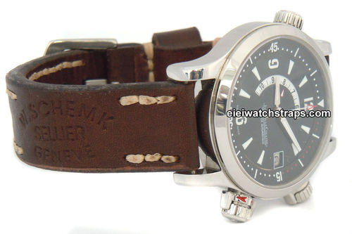 Geneva Handmade Vintage Style Ammo Leather Watchstrap For Jaeger-LeCoultre