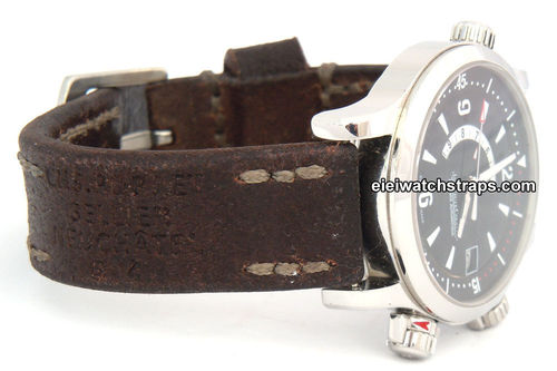 Potter Handmade Vintage style Ammo leather watchstrap For Jaeger-LeCoultre