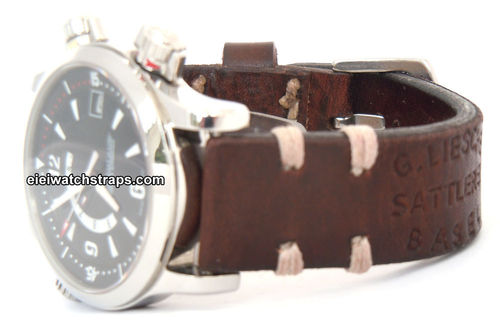 Besal Handmade Vintage style Ammo leather watchstrap For Jaeger-LeCoultre