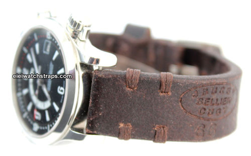 Cuya Handmade Vintage style Ammo leather watchstrap For Jaeger-LeCoultre