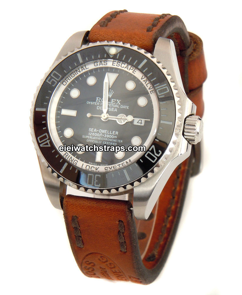 Zoss Handmade Vintage Style Ammo Leather Watchstrap For