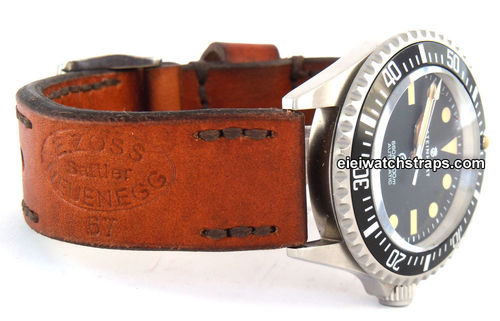 Zoss Handmade Vintage style Ammo leather watchstrap For Steinhart Watches