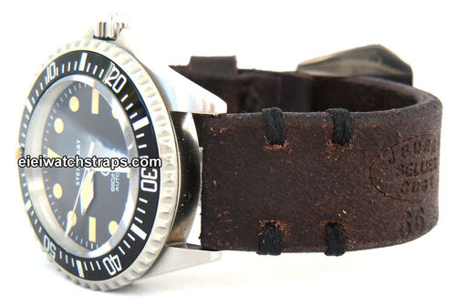 Cuyg Vintage Style Ammo Leather Watchstrap For Steinhart Watches