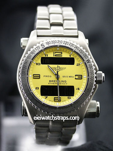 BREITLING EMERGENCY Titanium E56121 Yellow Dial Watch