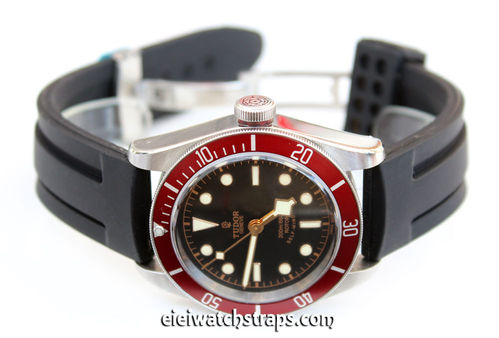 Monaco 22mm Silicon Rubber Watch strap For Tudor Black Bay Watch