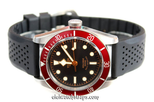 ilmor 22mm Silicon Rubber Divers Watch Strap For Tudor Black Bay Watches