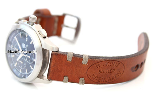 Kuza Hand Made Vintage style Ammo Leather watch strap For TAG Heuer Link Watches