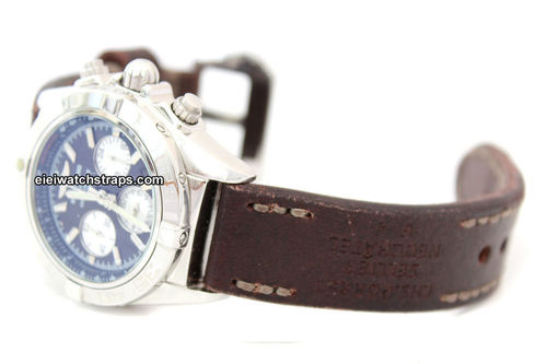 Potter Hand Made Vintage style Ammo Leather watch strap For BREITLING Chronomat