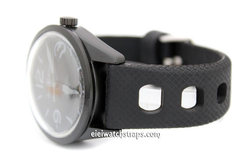22mm Silicon Rubber Watchstrap Distinctive textured top surface For Bell & Ross Watches