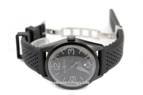 ilmor 22mm Silicon Rubber Divers Watch strap on Stainless Steel Deployment For Bell & Ross Watches