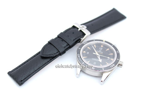 Handmade 20mm Black Leather With Omega Buckle
