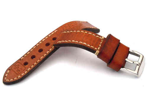 Zoss Hand Made Vintage style Ammo Leather watch strap