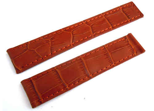 Genuine TAG Heuer Brown Crocodile Watch Strap for Deployment Clasp