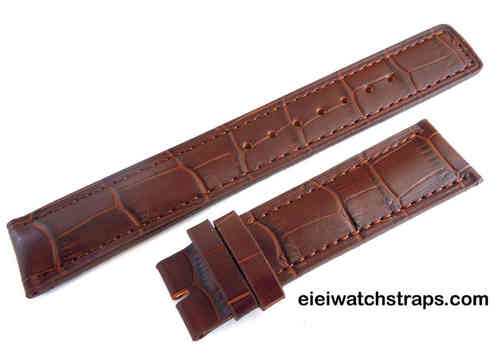 Genuine TAG Heuer Brown Crocodile Watch Strap for Tang buckle