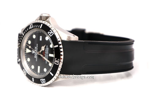 Pro Divers Curved Lugs Silicon Rubber watchstrap For Rolex Watches