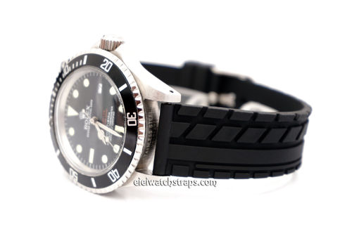 Tyre Tread Rubber Watch Strap For Rolex Watches