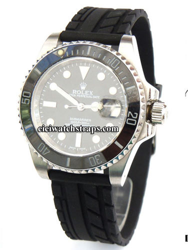 Tyre Tread Rubber Watchstrap For Rolex Watches