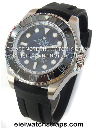 22mm 'Monaco' Silicon Rubber Divers Watchstrap For Rolex Watches