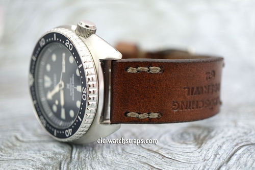 Brooklands Vintage Style Ammo Leather Watch strap for Seiko Watches