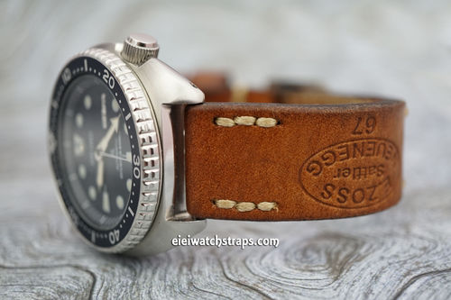 Zoss Hand Made Vintage style Ammo watchstrap For Seiko Watches