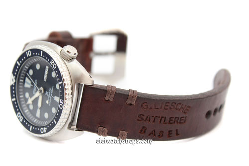 Basel Hand Made Vintage style Ammo watchstrap For Sekio Watches