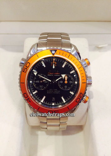 Omega Seamaster Planet Ocean Co-axial Chronograph Orange Bezel (SOLD)