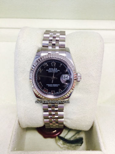 Rolex Oyster Perpetual Datejust On Jubilee Bracelet And white Gold Bezel