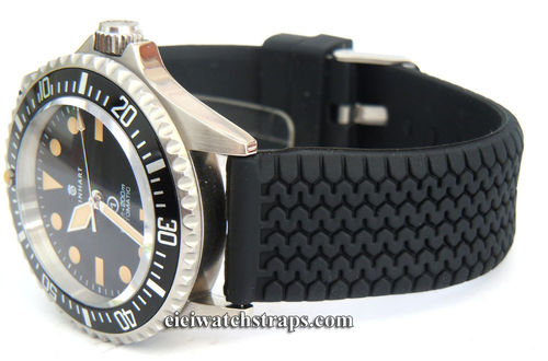Tyre Tread Silicon Rubber Watch Strap For Steinhart Watches