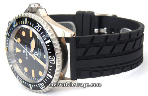Tyre Tread Rubber Watch Strap For Steinhart Watches