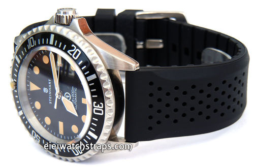 22mm Heavy Duty Silicon Rubber Divers Watchstrap Steinhart Watches