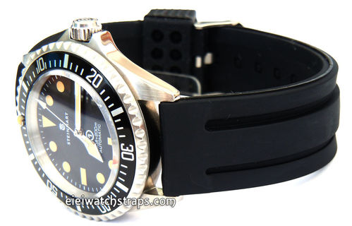 22mm 'Monaco' Silicon Rubber Divers Watchstrap For Steinhart Watches