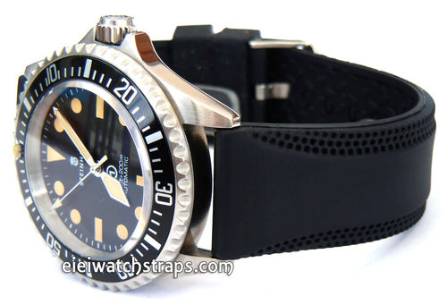22mm Silicon Rubber Divers Watchstrap For Steinhart Watches