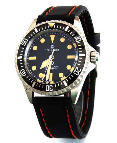 22mm Navy Seal II Silicon Rubber Stitched For Steinhart Divers Watch