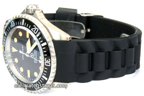 High Grade Silicon Rubber Oyster Pattern With Curved Lugs For Steinhart Watches